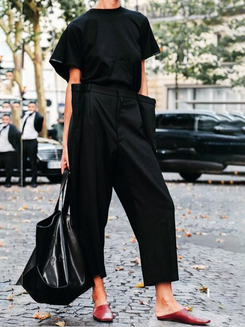 Plus Size Loose Fit Women Overalls With Pockets