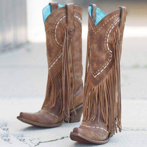 Spring/fall Tassel Boots