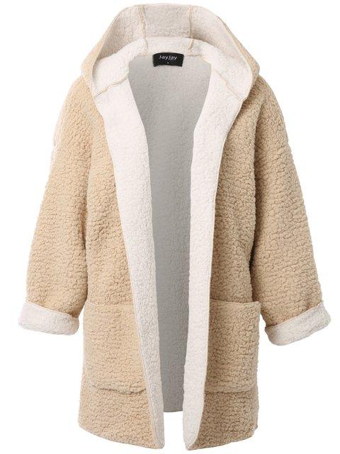 Hoodie Wool Blend Long Sleeve Casual Cardigans