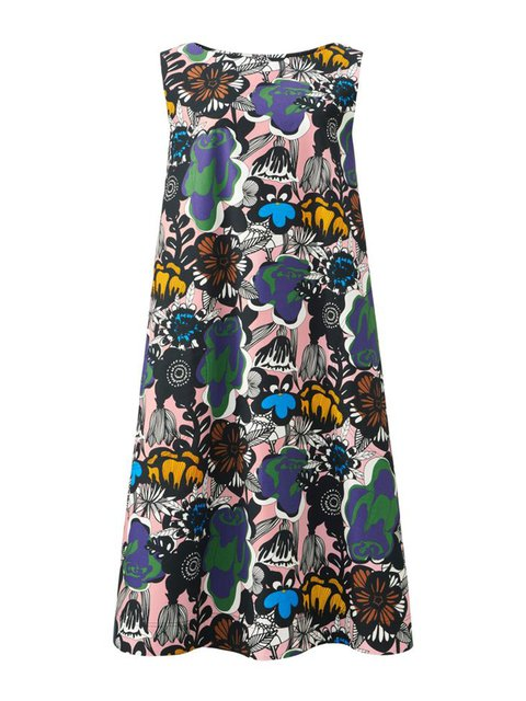 Multicolor Women Elegant Dresses Daily Cotton-Blend Dresses