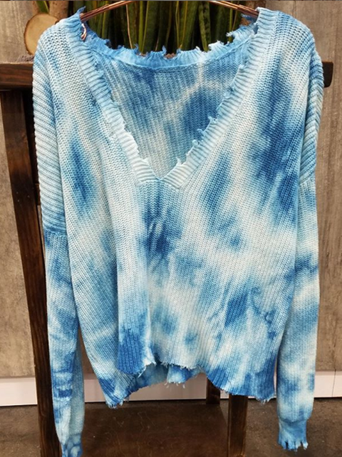 Blue Casual Long Sleeve Shirts Tops