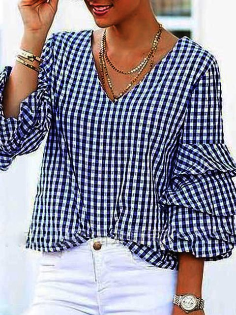 Black-White Cotton-Blend Holiday Shirts & Tops