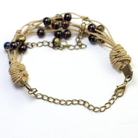 Bohemian ceramic multi-layer ethnic wind bracelet