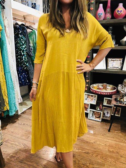 Plus Size Women Caftans Shift Daily Linen Dresses