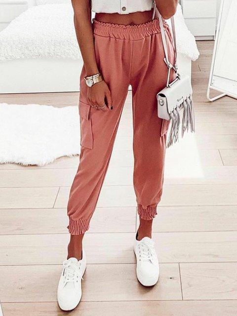 Natural Casual Plain Pants