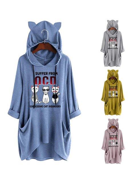 Animal Long Sleeve Printed Sweatshirts & Hoodies