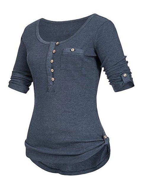 Paneled Half Sleeve Simple & Basic Plain Sweaters