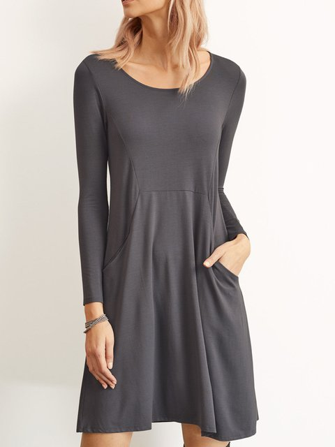 Casual Solid Soft Dresses