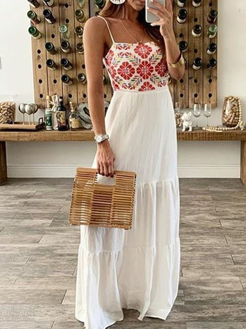 Plus Size Maxi Spaghetti Shift Beach Casual Dresses