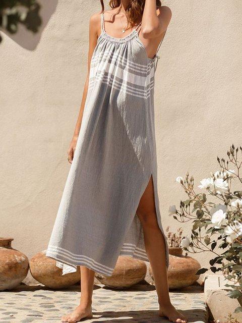 Plus Size Maxi Spaghetti-Strap Shift Beach Casual Dresses