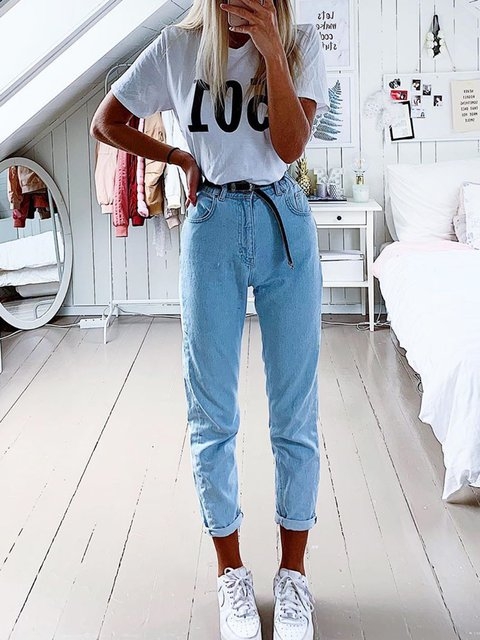 Plain Denim Daytime All Season Pants