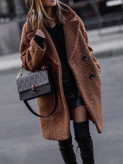 Plus Size Maxi Long Sleeve Shift Outerwear