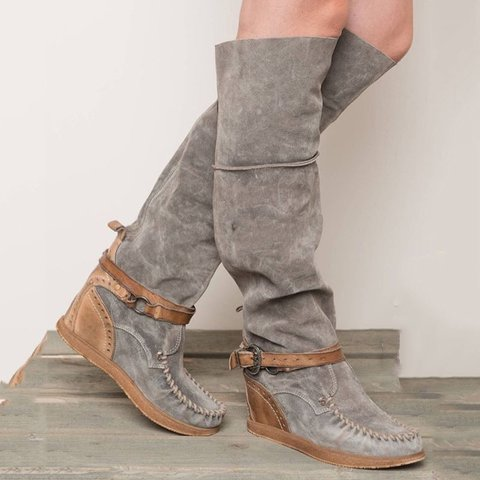 Women Flat Heel Closed Toe Boots
