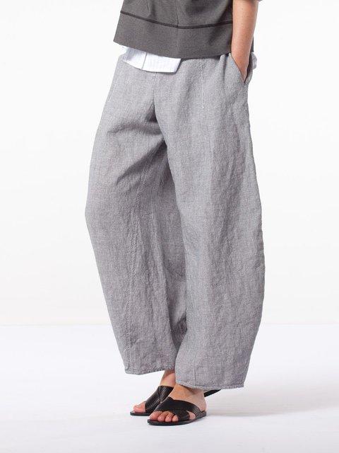 Plus Size Wide Leg Solid Pants