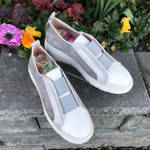 Woman Split Joint Elastic Band Cloth Slip-on Loafers Sneakers