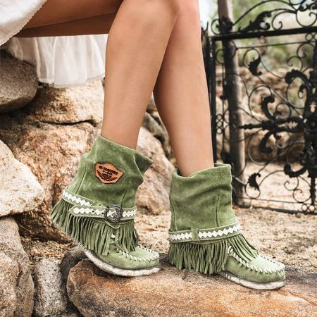 Tassel All Season Suede Boots