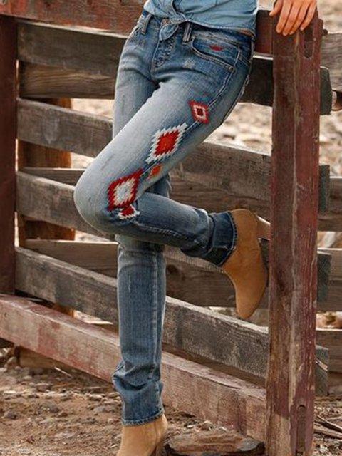 Sheath Cotton Casual Pants