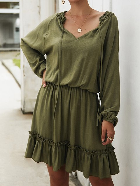 Women Casual Dresses Daily Gathered Dresses