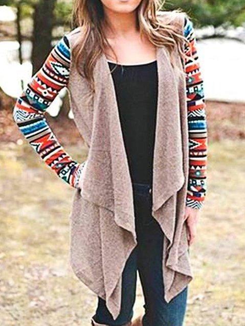 Paneled Boho Knitted Cardigan