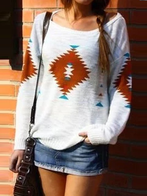 White Round Neck Long Sleeve Color-Block Patchwork Outerwear