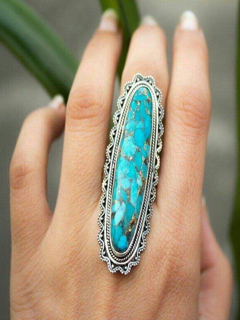 Blue Alloy Rings