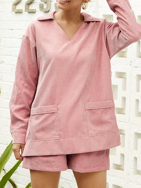 Plus Size Pockets Loose Fit Women Pullover Sweatshirts
