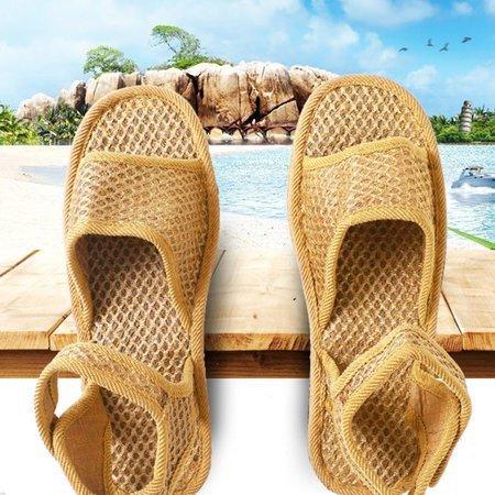 Brown Mesh Summer Sandals Ladies Vintage Slip On Sandals
