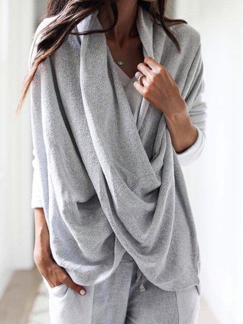 Women Casual Tops Tunic Cowl Neck Sweater