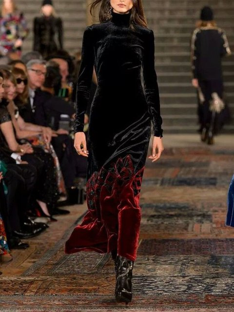 Casual Long Sleeve Plus Size Dress