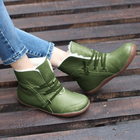 Women Warm Snow Winter Casual Comfy Ankle Booties