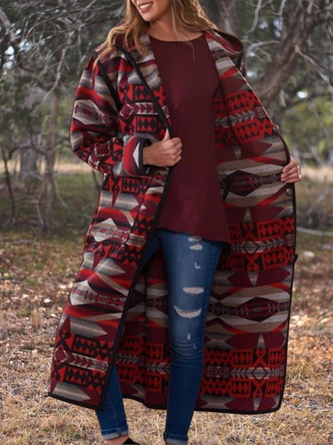 Printed Cotton-Blend Casual Outerwear