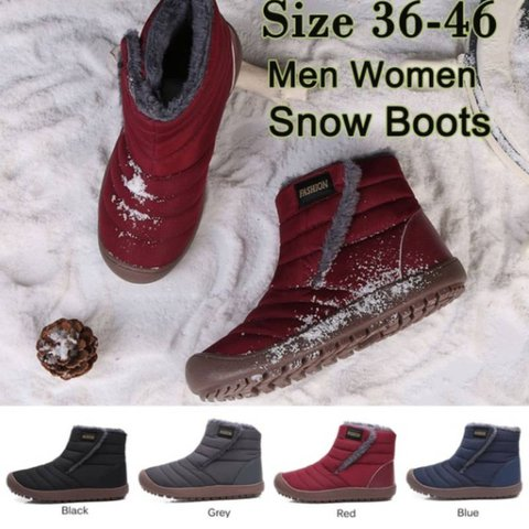 Women Waterproof Warm Ankle Snow Boots