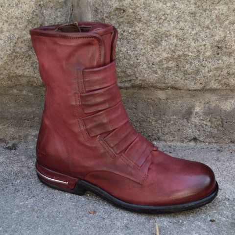 Plus Size Comfortable  Round Toe Boots