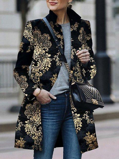 Black Paneled Long Sleeve Outerwear