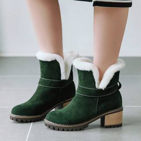 Women Big code Multicolor Keep warm Snow Boots
