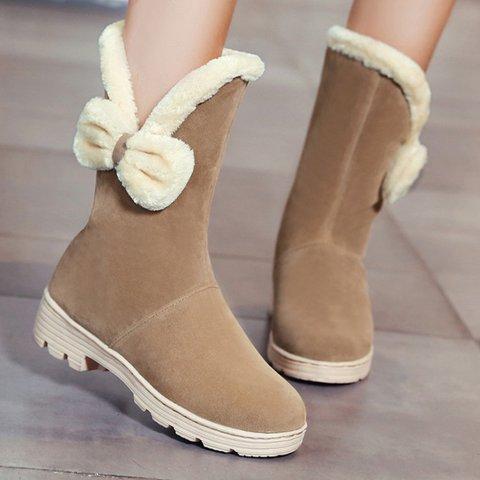 Women Plus Size Bowknot  Snow Boots