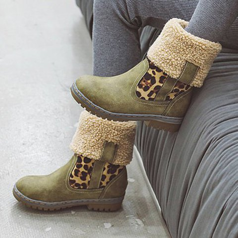 Women Flat Heel Multicolor Keep warm Snow Boots