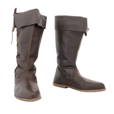 Plus Size Vintage Leather Flat Heel Wide Calf Fall Boots