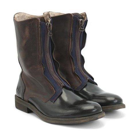 Women's retro casual zip winter boots