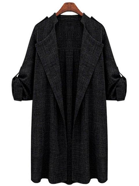 Shawl Collar Casual Work Plus Size Coats