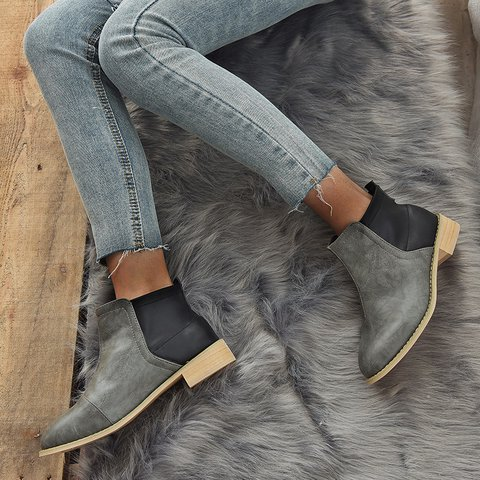 Chunky Heel Slip On All Season Boots