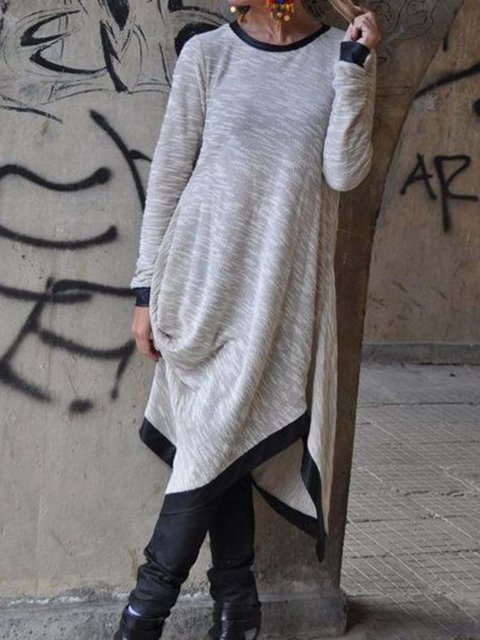 Light Gray Women Casual Dresses Daily Casual Solid Dresses