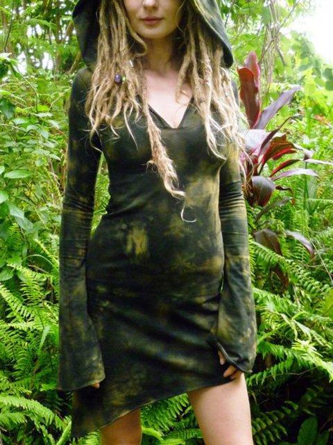 Casual Sleeveless Plus Size Hoodie Dress