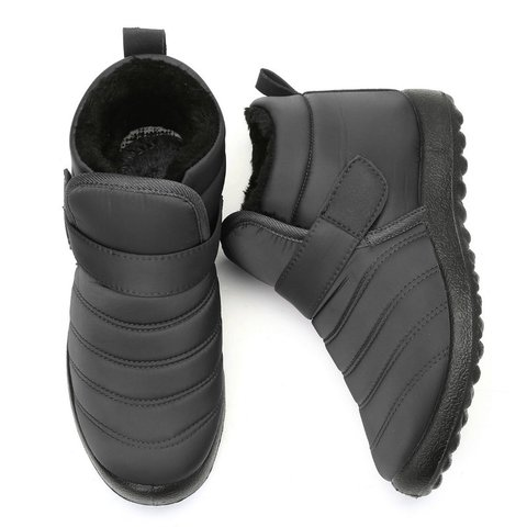 Large Size Hook Loop Waterproof Lightweight Ankle Casual Winter Boots