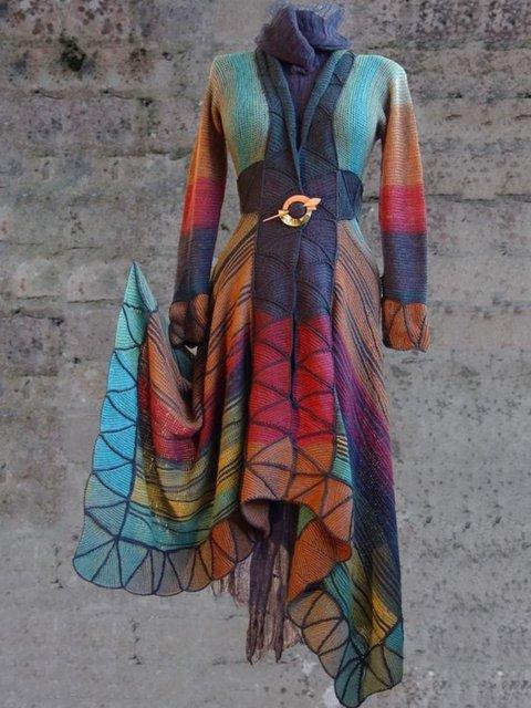 Casual Long Sleeve Plus Size Coats