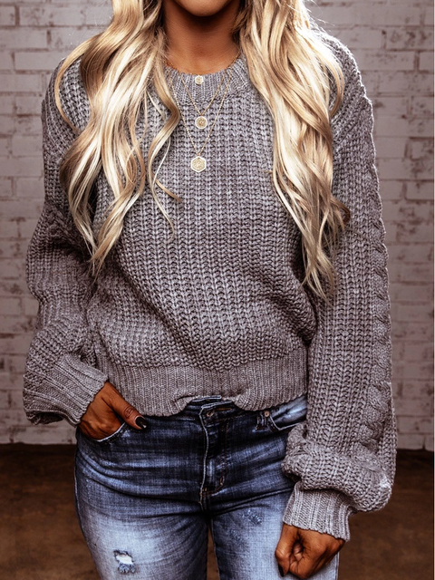 Wool Blend Long Sleeve Sweater