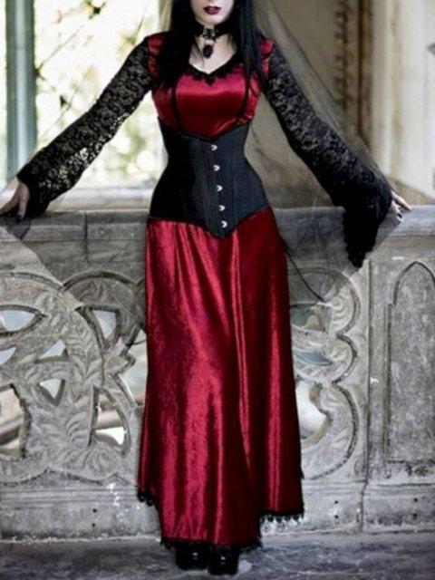 Halloween Red Women Dresses Dresses