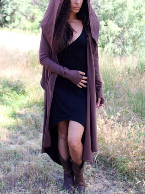 Casual Long Sleeve Plus Size Hoodie Outwear