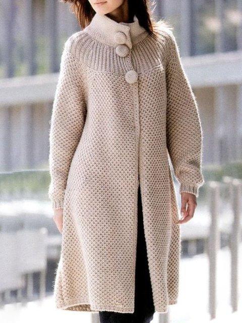 Casual Plus Size Outerwear Coat
