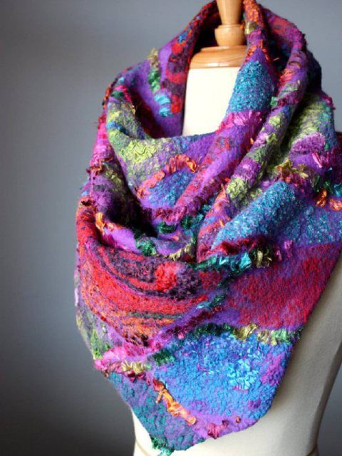 Cotton-Blend Scarves & Shawls